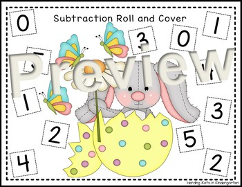 Easter Bunny Roll & Cover Addition & Subtraction Games!