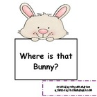 Easter Bunny~ Where are You?  Sight word Literacy Center