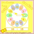 Easter Clock Printable