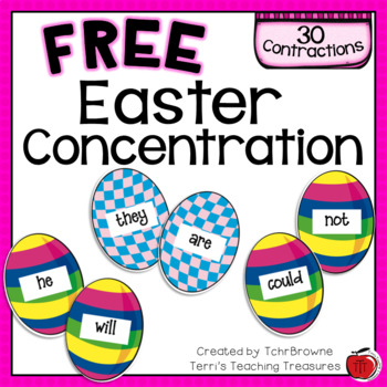 Easter Contractions Concentration Game