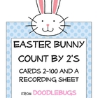 Easter Count by 2&#039;s Cards 2-100 Math Center