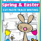 Easter Cut & Paste Writing Worksheets for Kindergarten