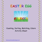 Easter Egg Activity Sheet