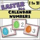 Easter Egg Calendar Numbers for Spring
