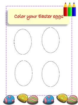 Easter Egg Hunt with Graphing Activity Kindergarten Level
