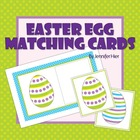 Easter Egg Matching Cards for Preschool and Early Childhood