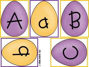 Easter Egg Matching {Uppercase & Lowercase Letters}