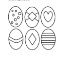 Easter Egg Templates and Pre-Colored