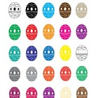 Easter Eggs Clip Art Collection (Easter & Color Themes)