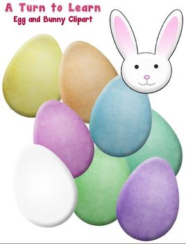 Easter Eggs and Bunny Clipart