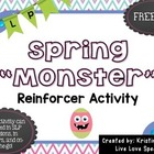 Easter Eggs and Monster Reinforcer Game {FREEBIE}
