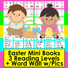 Easter - Emergent Readers and Harder-3 Levels-4 Versions Ea+Vocab