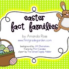 Easter Fact Families {A Math Freebie}