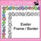 Easter Frame / Border Clip Art - Personal & Commercial Use