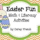 Easter Fun Math &amp; Literacy Activities CCSS