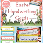 Easter Handwriting Cards - write and wipe March Center Act