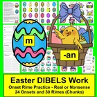 Easter Literacy Center Eggs and Baskets Level 1 - DIBELS -