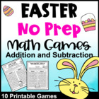 Easter Math Games NO PREP