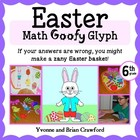 Easter Math Goofy Glyph (6th grade Common Core)
