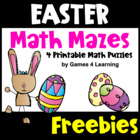 Easter Math Mazes