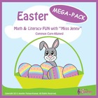 Easter Math and Literacy MEGA PACK / 117 p + 2 mp3s / Comm