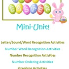 Easter Mini Unit Math Reading Writing Crafts!
