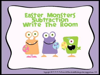 Easter Monsters Subtraction - A Differentiated Write The R