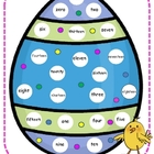 Easter Number Word Mat Center