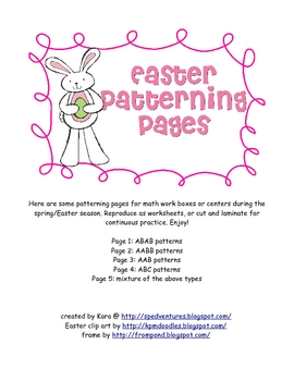 Easter Patterning Activity