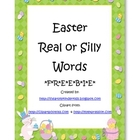 Easter Real or Silly Words FREEBIE