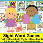 Easter Literacy Centers: Sight Words Game Boards-First 106