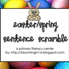 Easter Spring Sentence Scramble Writing Literacy Center