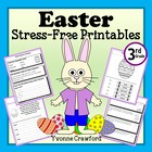 Easter Stress-Free Printables - Third Grade Common Core