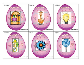 Easter Syllable Sort (Literacy Center)