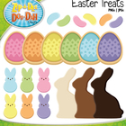 Easter Treats Clipart — Over 20 Rainbow Color Graphics!