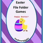 Easter Unit Printable Math & Reading File Folder Games PK-
