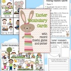 Easter Vocabulary Cards Record Sheets, Game and Poster - 17 pages