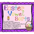 Easter Vowel Sorting Activities: A,E,I,O, and U