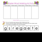 Easter Word Making Activity