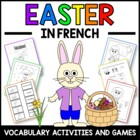 Easter in French - vocabulary sheets, worksheets, matching game