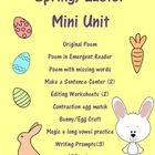 Easter/Spring Poem pack & mini unit