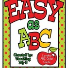 Easy As ABC Center: 3 levels of ABC Order