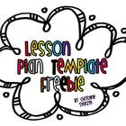 Easy &amp; Editable Lesson Plan Template