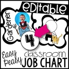 Easy Peasy Classroom Job Chart! Customizable!