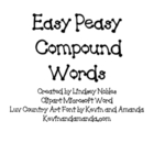 Easy Peasy Compound Words