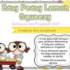 Easy Peasy Lemon Squeezy Sentence and Fragment Sort