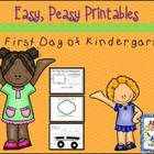Easy, Peasy Printables: My First Day in Kindergarten