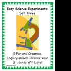 Easy Science Experiments:  Set Three
