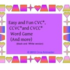 Easy and Fun CVC CCVC and CVCC  word game