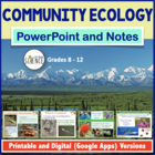 Ecology: Community Ecology PowerPoint / Notes for Teacher